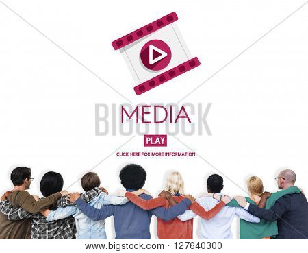 Media Digital Communication Information Social Concept