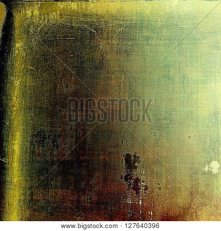 Abstract grunge background or aged texture. Old school backdrop with vintage feeling and different color patterns: yellow (beige); brown; gray; green; black