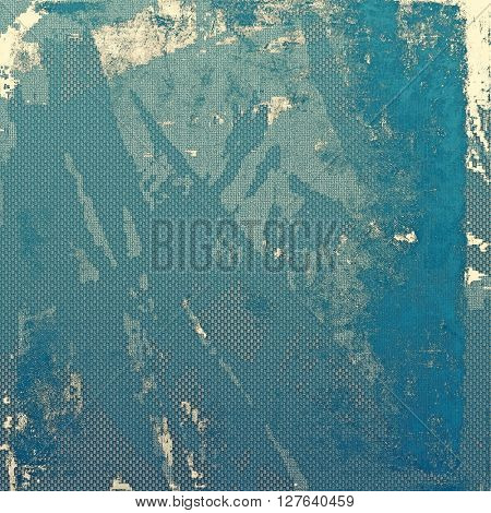 Damaged retro texture with grunge style elements and different color patterns: yellow (beige); gray; blue; cyan