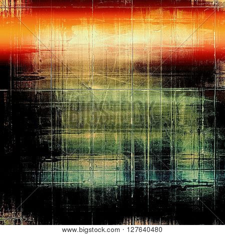 Stylish grunge texture, old damaged background. With different color patterns: yellow (beige); green; blue; red (orange); black