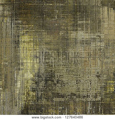 Stylish grunge texture, old damaged background. With different color patterns: yellow (beige); brown; gray; black