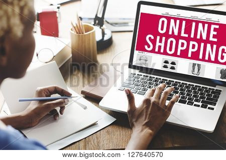 Online Shopping Internet Website E-Commerce Concept