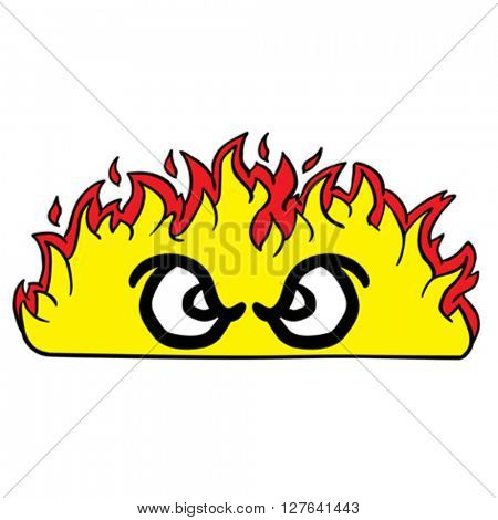 angry looking fire cartoon illustration