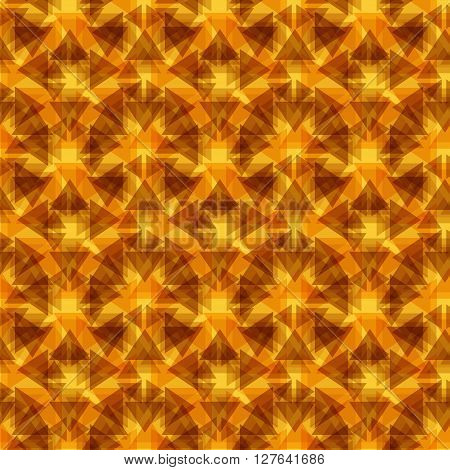 Abstract seamless pattern with colorful triangles. Modern kaleidoscopic background. Unique grunge kaleidoscope backdrop with triangles
