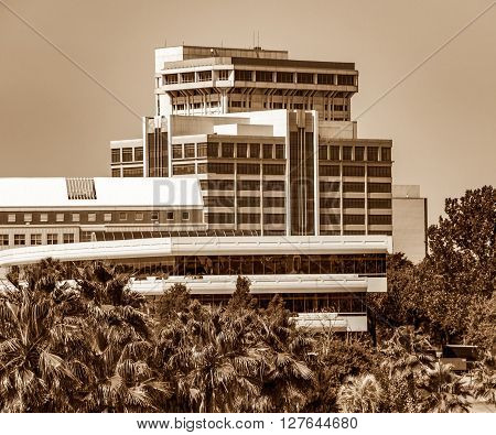 Riverside as seeen from downtown Jacksonville Florida in Sepia