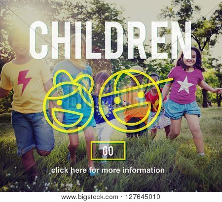 Children Kids Icons Symbols Concept