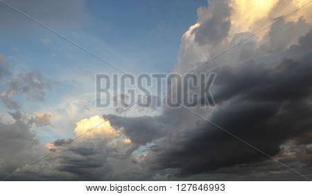 Raincloud On Sky
