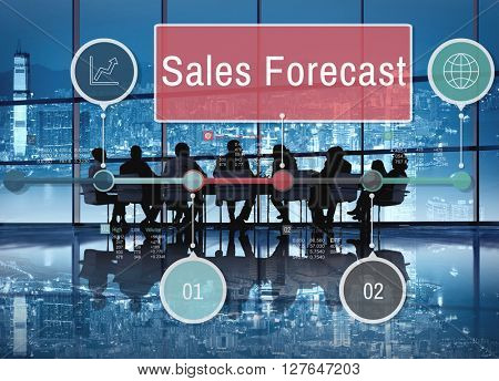 Sales Forecast Planning Strategy Business Concept