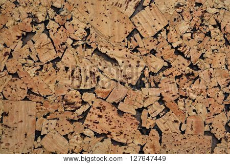 Cork wood background and texture - notice board