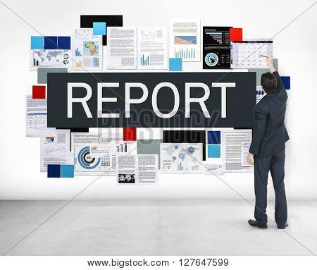 Report Information Minutes Organization Concept