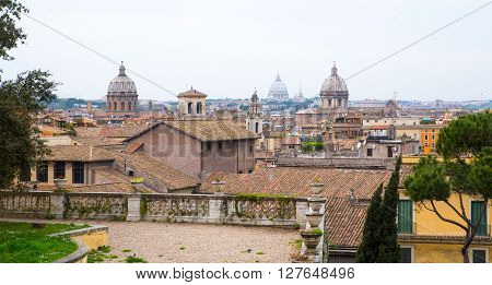 Rome view from the Capitoline hill. Panorama