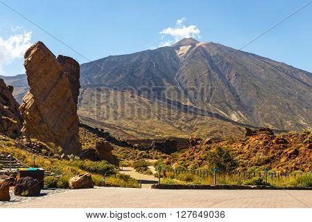 Roques de Garcia in Tenerife Island Spain
