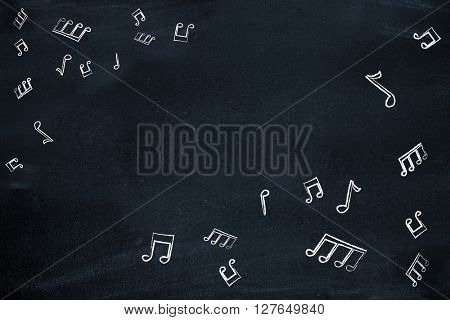 Music notes as a backdrop
