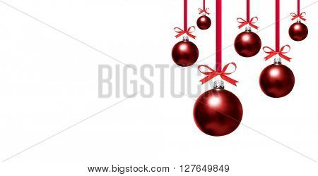 Christmas bauble on white