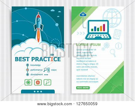 Project Best Practice Concepts And Set Of Banners.