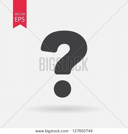 Question icon vector. Question mark icon. Flat logo design.  Isolated on white background. Vector illustration