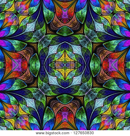 Multicolored seamless background in stained-glass window style. You can use it for invitations notebook covers phone case postcards cards wallpapers and so on. Artwork for creative design art and entertainment.