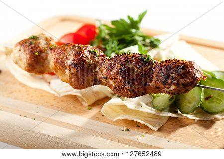 Spicy Chicken Kebab with Vegetables