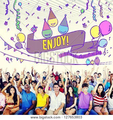 Happiness Enjoy Fun Jolly Festive Concept