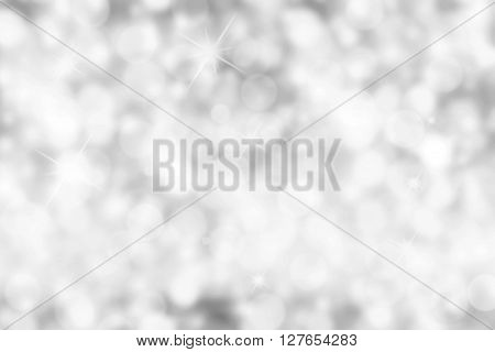The Silver Bokeh Background (Silver Blurred Wallpaper)