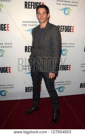 LOS ANGELES - APR 21:  James Marsden at the Annenberg Space for Photography presents REFUGEE at the Annenberg Space for Photography on April 21, 2016 in Century City, CA