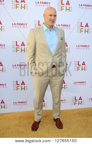 LOS ANGELES - APR 21:  Bruno Gunn at the LA Family Housing Awards at the The Lot on April 21, 2016 in Los Angeles, CA