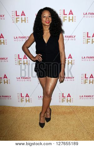 LOS ANGELES - APR 21:  Monique Coleman at the LA Family Housing Awards at the The Lot on April 21, 2016 in Los Angeles, CA