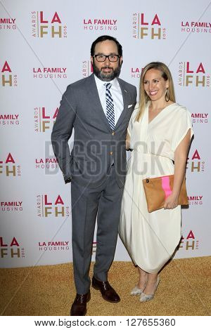 LOS ANGELES - APR 21:  P.J. Byrne, Jaime Nicole Padula at the LA Family Housing Awards at the The Lot on April 21, 2016 in Los Angeles, CA