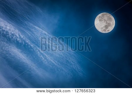 Photos Outside World. Overlooking The Beautiful Atmosphere And The Moon.