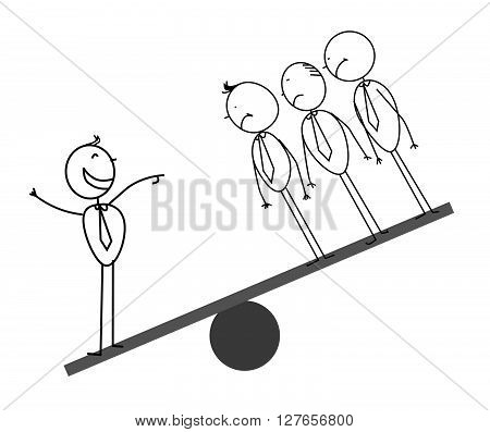 1 & 3 Businessman on scales .eps10 editable vector illustration design