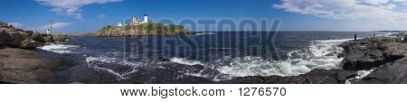 Cape Neddick Lighthouse The Nubble Panorama Maine