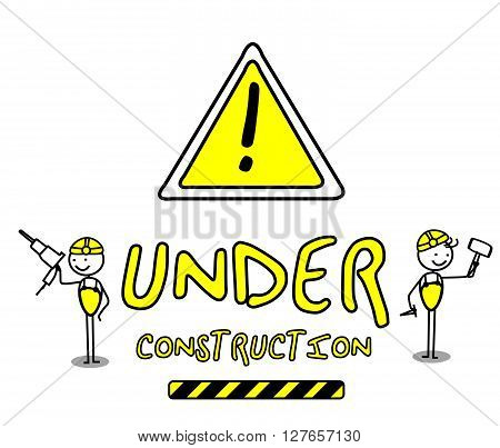 Under Construction .eps10 editable vector illustration design