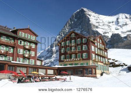 Bellevue Hotel des Alpes und der Eiger Kleine Schneidegg Schweizer Alpen 2