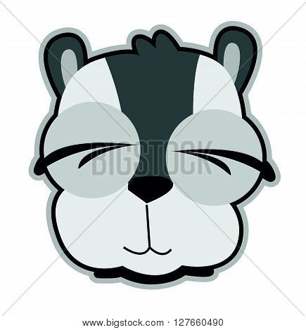 Raccoon vector .eps10 editable vector illustration design