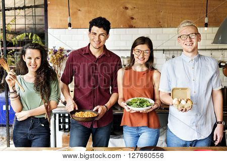 Friends Cooking Hobby Lifestyle Concept