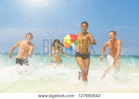 Beach Fun Concept