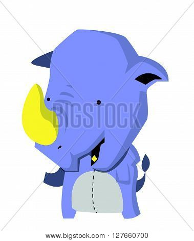Rhino vector .eps10 editable vector illustration design