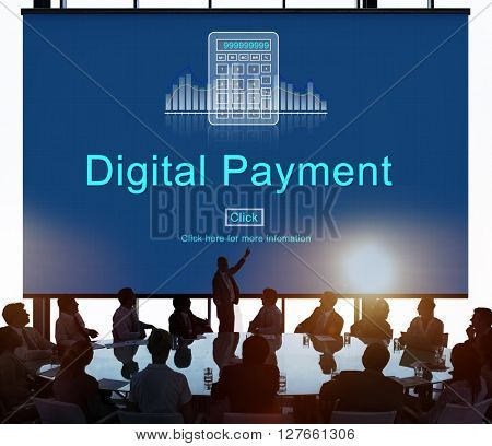 Digital payment Consumerism Merchadise Card Concept