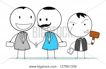Business law mediation .eps10 editable vector illustration design