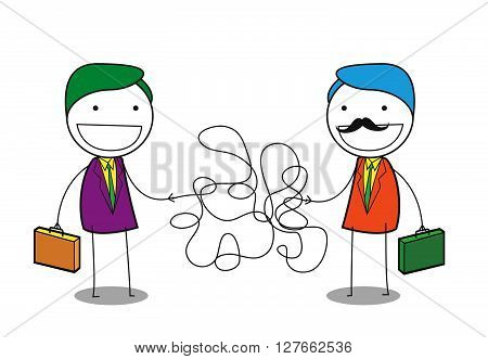 Man line solution .eps10 editable vector illustration design