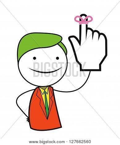 Man promise hand .eps10 editable vector illustration design