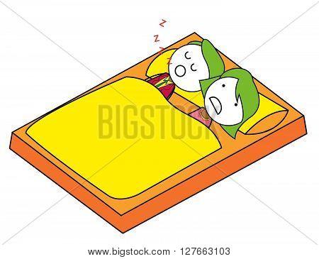 Disturb sleep .eps10 editable vector illustration design