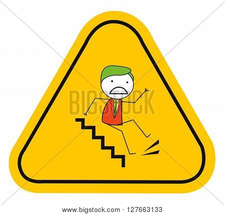 Slippery slipping .eps10 editable vector illustration design