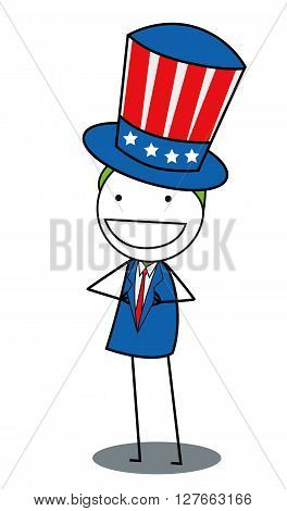 Uncle sam .eps10 editable vector illustration design