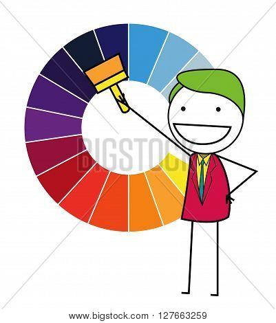 Color chart .eps10 editable vector illustration design