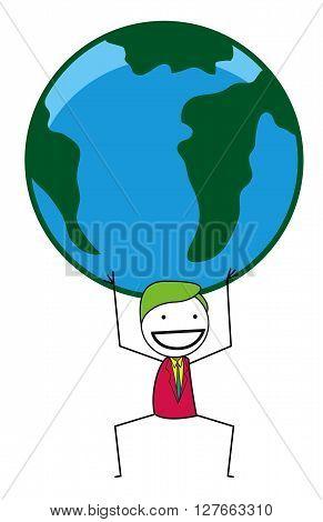 Businessman world .eps10 editable vector illustration design