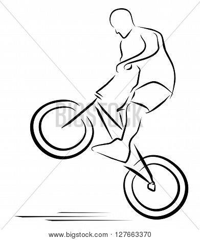 Vector illustration moto race symbol .eps10 editable vector illustration design