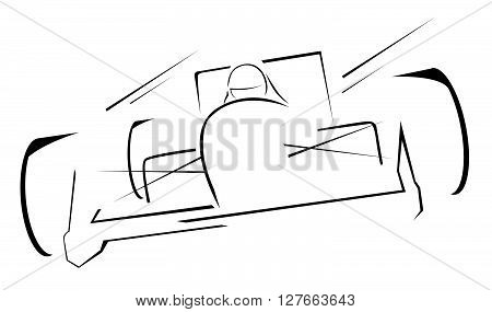 formula one race illustration .eps10 editable vector illustration design