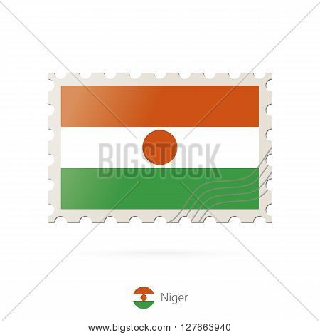 Postage Stamp With The Image Of Niger Flag.