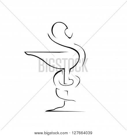 Medical Sign Simple Symbol .eps10 editable vector illustration design
